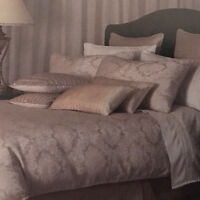 Finesse Demask Almond Doona Quilt Cover Set | Private Collection | Super King