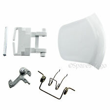SERVIS Washing Machine Door Handle Washer White Plastic Pin Spring Hinge Kit
