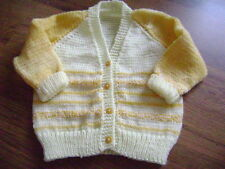 "New Hand Knitted Multi Colour Cardigan 24"" chest"