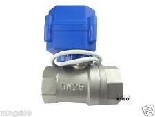 """motorized ball valve G1"""" (Reduce port) DN25 2 way 12VDC CR04,Stainless steel"""