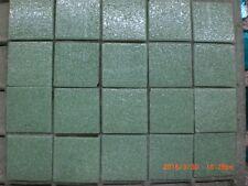 50 Light Green Colour Vitreous Glass Mosaic 20 x 20x 4mm Tiles