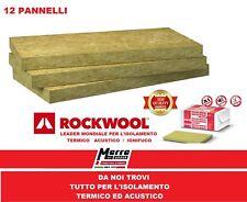 12 PANNELLI 50 mm LANA ROCCIA ROCKWOOL TERMO ISOLANTE CAPPOTTO TERMICO ACUSTICO