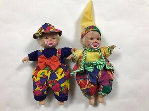 Vintage Mardi Gras Clown Jester Dolls New Orleans Lot
