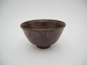 Japanese Ceramic Rice Bowl Brown Made in Japan