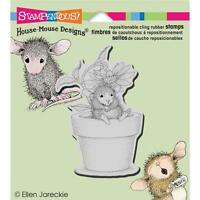 New Stampendous RUBBER STAMP cling House Mouse POTTED MOUSE free us ship
