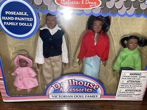 Victorian Dollhouse Black FAMILY African American 2689 4 Dolls Melissa & Doug