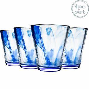 Tumbler Glasses Hiball Drinks Water Tumblers Bormioli Rocco Murano 430ml x4