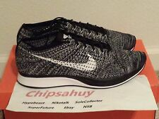 Nike Flyknit Racer Oreo 2.0 Grey White Black Zoom Air Trainer Shoe DS Size 9