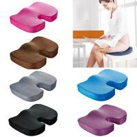 Car Orthopedic Seat Memory Foam Cushion Back Lumbar Tail Bone Coccyx Pain Relief