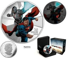 2018 Silver $20  The Justice League Cyborg and Superman Coin