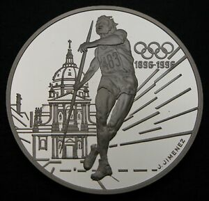 FRANCE 100 Francs 1994 Proof - Silver - 1996 Olympics - 816