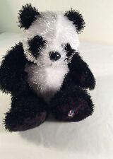 Webkinz Ganz  Plush Panda Stuffed Animal  Black White NO CODE