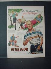 1955 McGregor Sportswear Fashion Man playing Gold Hammock Vintage Print Ad 11404