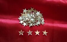50 Acrylic mirrored glass 1.5cm stars mirror shapes embellishments scrapbook