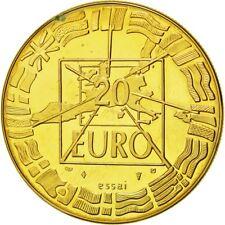 [#555003] France, Médaille, Europe, 20 Euro Essai, 1998, FDC, Gilt Bronze