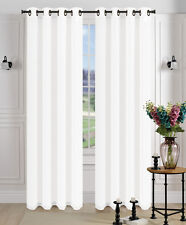 2Pcs. SEMI-Sheer Window Panel curtains SOLID GROMMET PLAIN STYLE DRAPES MIRA