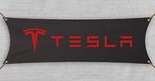 Tesla Flag Banner Garage Black Model S Car Model 3 Premium Car 18x58 in
