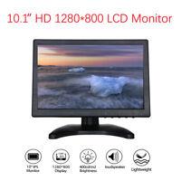 10 inch Monitor 1200x800 with Video Audio AV VGA BNC HDMI for CCTV Camera PC DVD