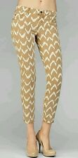 7 For All Mankind Skinny Jeans The Crop Skinny SZ 24 in Toffee Ikat AU809381A