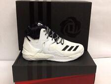 NIB Adidas D Rose 7 Boost Men's Basketball Shoes-White/Black - US Size 14