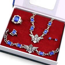 Anime Black Butler Ciel Ring Bracelet Necklace Ear-nail Set