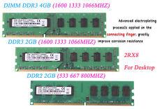 Lote de memoria de escritorio PC 2GB 4GB DDR2 DDR3 667 800 1333 1600 Mhz RAM Baja Densidad @ D