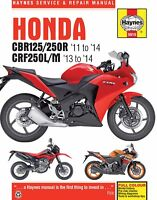 Honda CBR125 CBR250 CRF250L CBR 125 250 CRF 250L HAYNES REPAIR MANUAL 5919