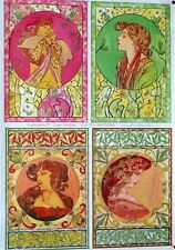 Decoupage Papier Bogen 4 Antike Frauenmotive 50 x 70 cm 90504