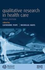 QUALITATIVE RESEARCH IN HEALTH CARE - NEW PAPERBACK BOOK