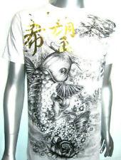 MMA Japanese Koi Carp Venum of Yakuza-Affliction Tattoo Art Shorts/s T-SHIRT. L