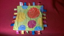 """15"""" Taggies BRIGHT CIRCLES PLUSH SECURITY BLANKET baby toy"""