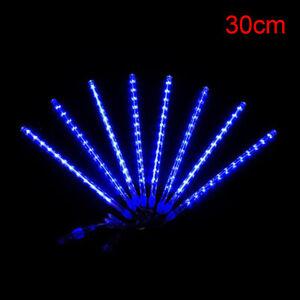 30/50CM Waterproof LED Meteor Shower Rain Falling String Lights Christmas De FJ