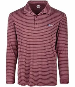 Greg Norman Mens Performance Rugby Polo Shirt, Red, XX-Large