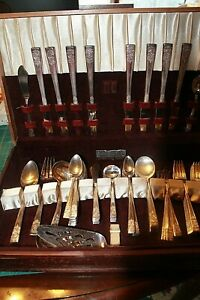 National Silver Company Silverplate Flatware Inauguration 86 Piece Service for 8