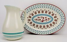 """The General Store by Gibson """"Hollydale Pattern"""" Oval Serving Platter & Pitcher"""