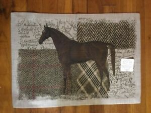"Heritage Lace Quarter Horse 14""x 20"" Place Mat 100% Polyester"