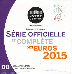 COFFRET  B.U.  FRANCE     2015 +++NOUVEAU