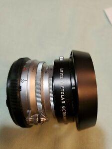 Exc+ Leica Leitz Wetzlar Summaron-M 35mm F/3.5 35/3.5 Lens Chrome