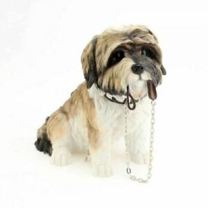 16Cm Sitting Shih Tzu Walkies Brown Dog Ornament/Figurine leonardo