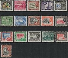 British Guiana 1954 SC 253-267 Set LH CV $96.15 - Queen Elizabeth