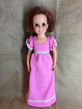 Vintage Ideal Crissy Doll Red Hair Hand Made Pink Maxi Dress Needs TLC
