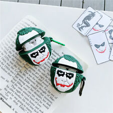Joker Silicone Case Cover, Shockproof Cover for Airpods 1/2 Keychain