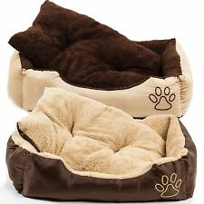 Hundebett mit Kissen Hunde Korb Hundesofa Körbchen Katzen Tier Bett Katzenbett