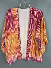 "Cabi Retro Groovy Cardigan Small Polyester Lined Flare Sleeve 28"" Length"