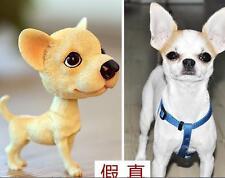 Chihuahua Dog Bobbing Head BobbleHead Figurine Model Car Home Ornaments Decor