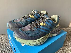 HOKA One One Speedgoat 3 Womens Vibram Blue Running Shoes Trainers Size UK 5