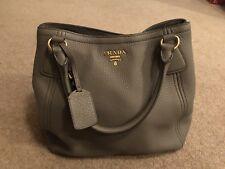 6927eb8fc15b PRADA Leather tote bag BN2534 ARGILLA Grey Vitello Daimo Authentic With  Receipt