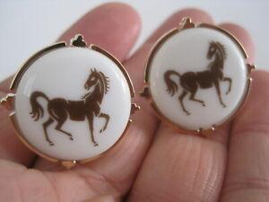 Very Rare Royal Copenhagen Horse Cufflinks