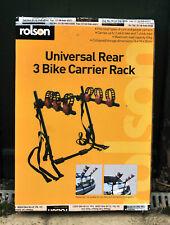 ROLSON UNIVERSAL REAR 3 BIKE CARRIER RACK BNIB