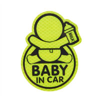 Baby in Car Baby Safety Sign Reflective Car Vinyl Sticker Window Decal Decor New